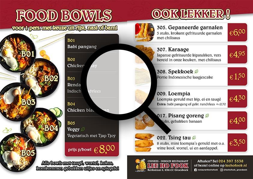 Lee Ho Fook Food Bowls